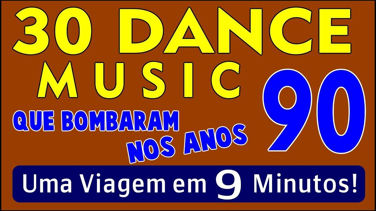 """30 Músicas """"Dance Music"""" que Bombaram nos Anos 90!!! Em 9 Minutos! (Parte 01)"""