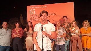 Adrián Lastra agradece la acogida de 'Metamorfosis' tras su estreno en el Festival de Mérida