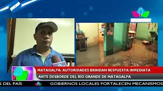 Matagalpa: Autoridades brindan respuesta inmediata ante desborde del Río Grande de Matagalpa
