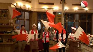 Café Ségo encouraged Bahrain national team in its final match - تجشيع فريق كافيه سيغو لمنتخب البحرين