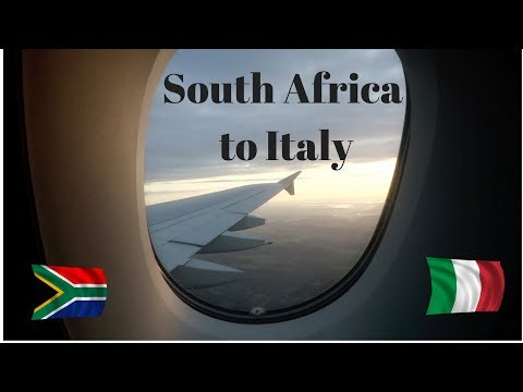 Travel from South Africa to Italy - Travel Vlog