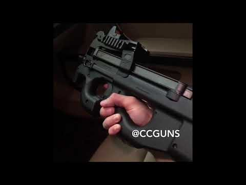 FN P90 first Person View With the Design Machine Low Mount and Trijicon RMR.