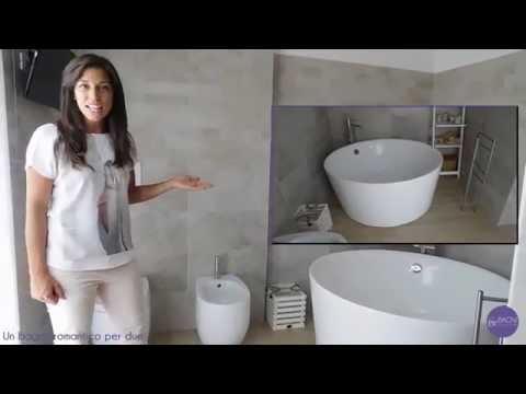 Bagno completo vasca freestanding e doccia in resina  YouTube