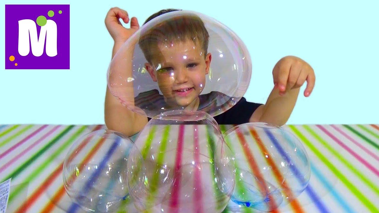 Нелопающиеся мыльные пузыри Juggle Bubbles Ловим перчатками .