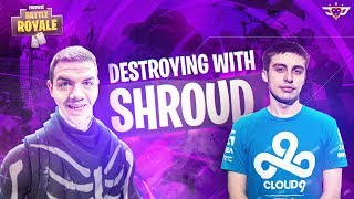 DESTROYING BLITZ SQUADS WITH SHROUD! (Fortnite: Battle Royale)