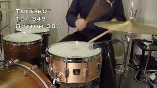 Tama Bell Brass Snare 14x6,5 BB156 tuning demo with Tune-Bot settings by Kai Jokiaho