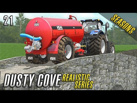 FERTILIZING SUCCESS | Realistic Farming Simulator 17 | Dusty Cove | Day 21