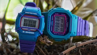 Casio G-Shock Junior DW-520-6 Two tone vintage watch unboxing & review