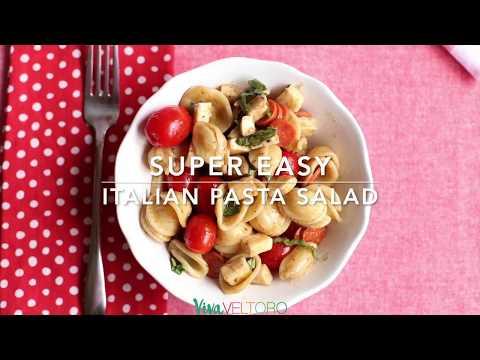 EASY Italian Pasta Salad With Pepperoni