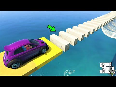 قراند 5 : باركور القيادة فوق صبات 🐸 GTA 5 | Drive Over Concrete - Mini Cooper Parkour