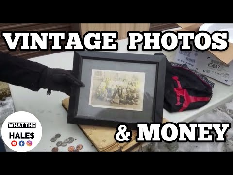 FOUND MONEY & Vintage Photos I Bought Abandoned Storage Unit Locker / Opening Storage Mystery Boxes