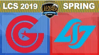 CG vs CLG - LCS 2019 Spring Split W4D1 - Clutch Gaming vs Counter Logic Gaming