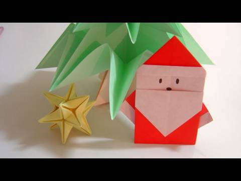 simple origami santa claus papai noel de origami youtube. Black Bedroom Furniture Sets. Home Design Ideas