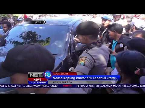 Kisruh Pilkada, Massa Kepung Kantor KPU Tapanuli Utara -NET10