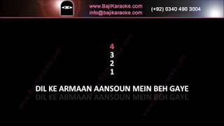 Dil Ke Armaan Aansuon Mein - Remix - Video Karaoke - Ali Farhan - by Baji Karaoke