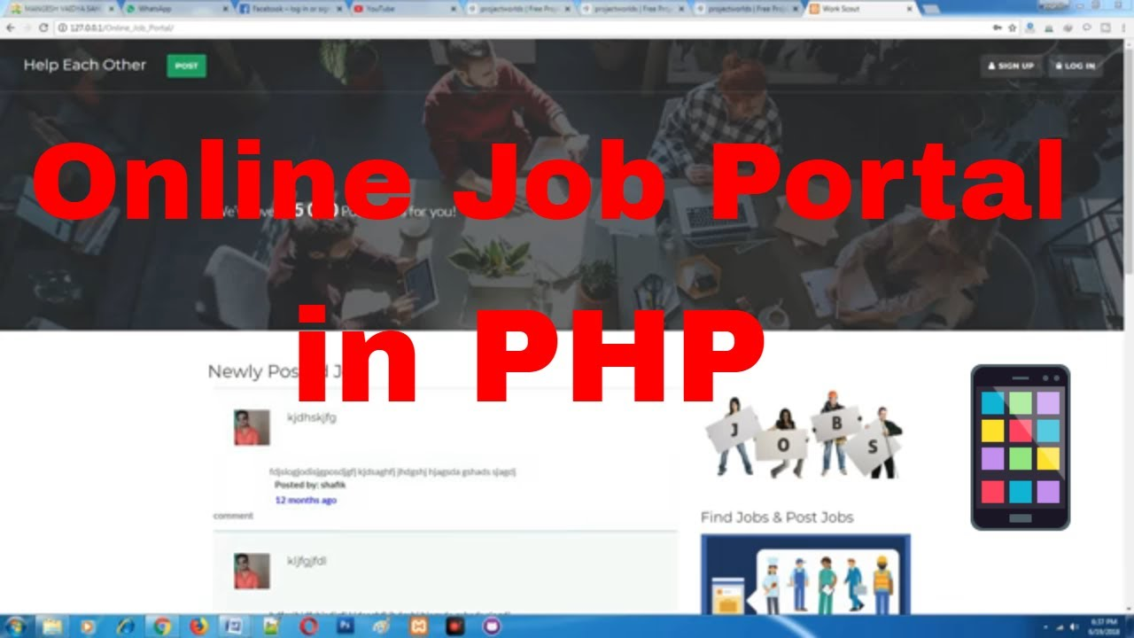 Job Portal Project in php