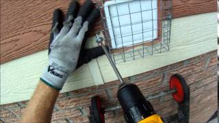Screening a Wall Vent for Bird Prevention