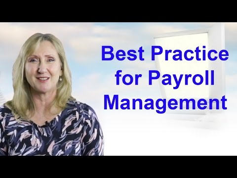 Payroll Best Practice | Data management