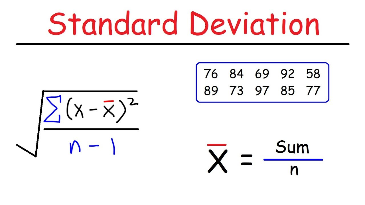 How To Calculate The Standard Deviation - YouTube