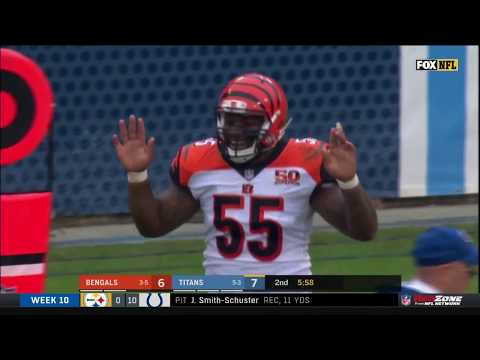 Vontaze Burfict Ejected for Late Hit & Making Contact w/ Ref | Bengals vs. Titans | NFL Wk 10