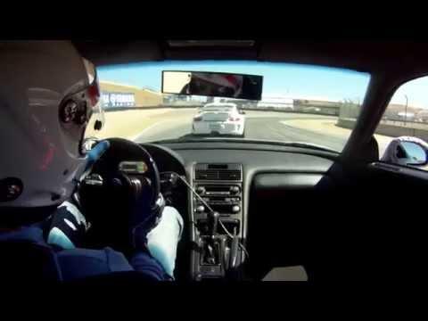 Acura NSX Time Attack with Porsche's at Laguna Seca Raceway