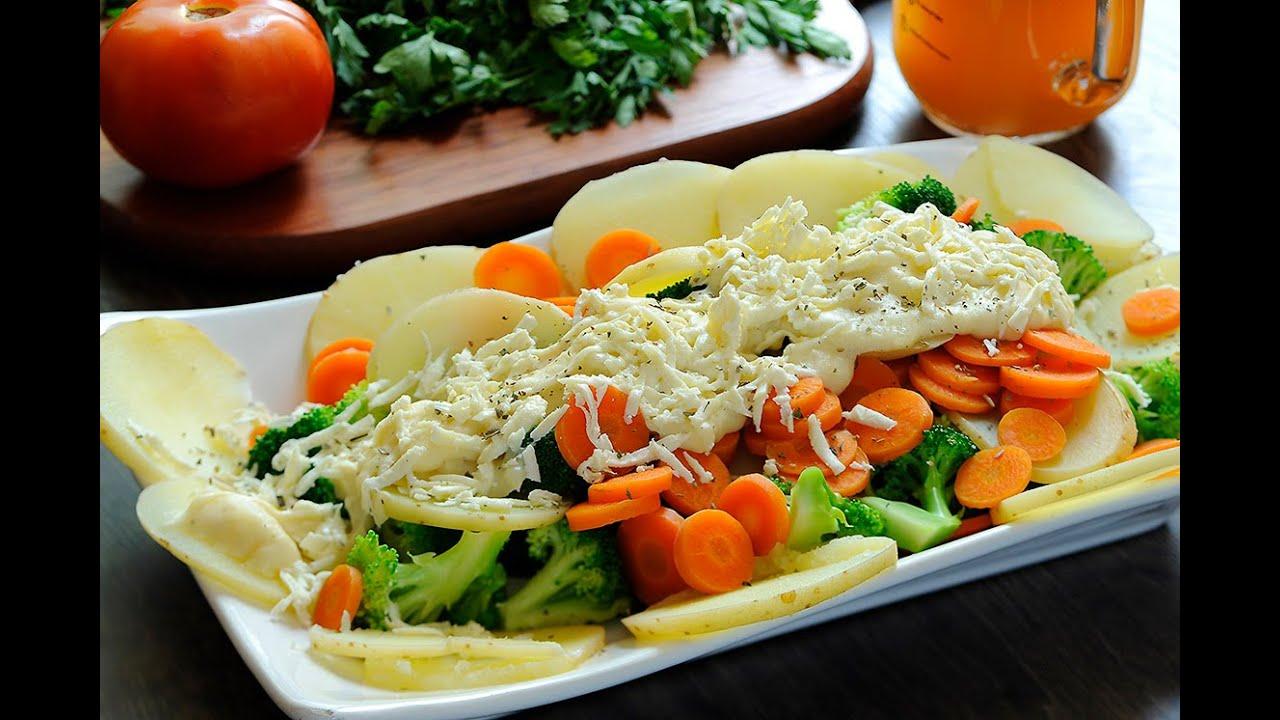 vegetales salteados con salsa bechamel
