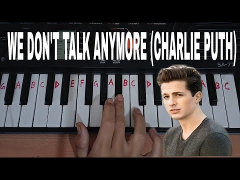 We Don't Talk Anymore (Charlie Puth) Easy Piano Tutorial.