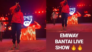 EMIWAY BANTAI LIVE ,Performance 🔥SHOW🔥 RAMJAS COLLEGE, Delhi university