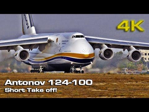 Antonov 124-100 Short Take Off!   [4K]