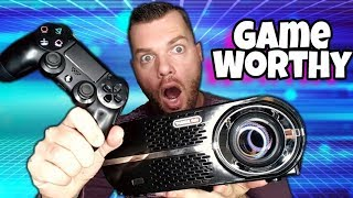 Video Budget Gaming Projector Only $200 | GP100 Review download MP3, 3GP, MP4, WEBM, AVI, FLV Juli 2018