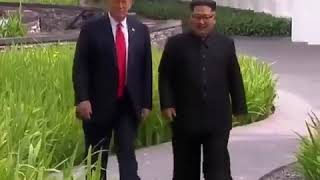 Conversa entre Trump e Kim Jong Un