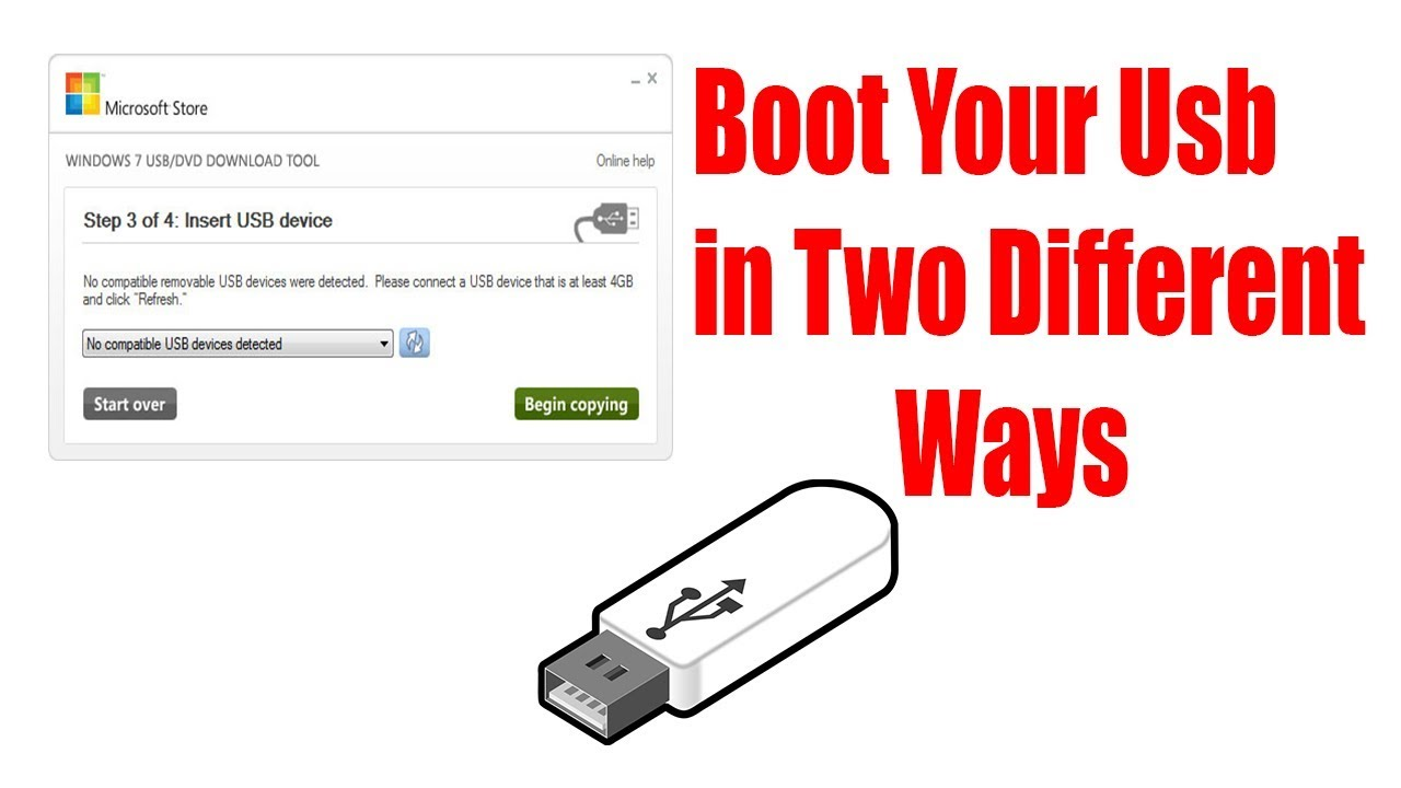 windows 7 usb dvd tool no compatible device