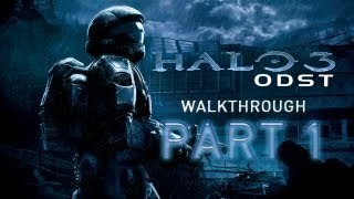 Halo 3: ODST - Walkthrough Part 1 [Mission 1: PREPARE TO DROP] - THE BEGINNING - W/Commentary