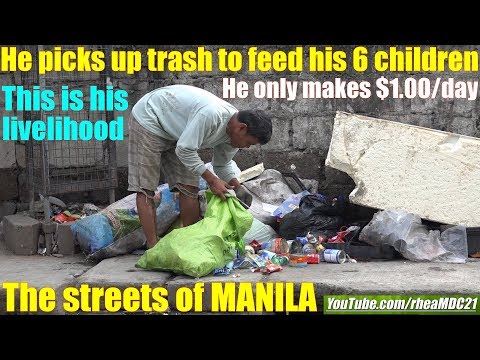 Travel to Asia: Let's go to Manila Philippines and Meet Tina the Food Seller. World's Society