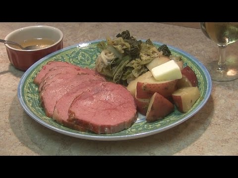 St. Patrick's Day 2016 - Hickory Smoked Corned Beef And Cabbage!