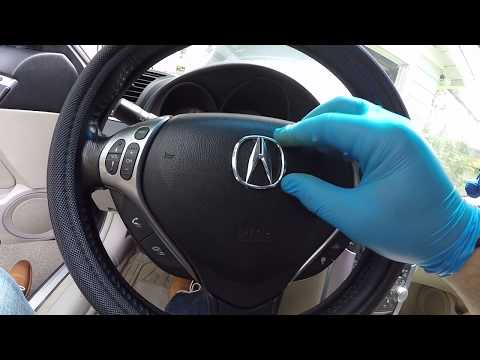 Acura TL 2004-2007/Honda-all makes-Steering wheel emblem replacement