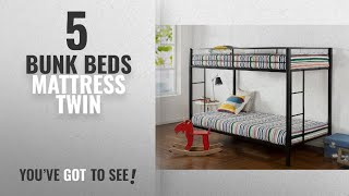 Top 10 Bunk Beds Mattress Twin [2018]: Zinus Easy Assembly Quick Lock Twin over Twin Classic Metal