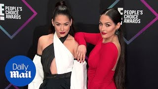 Nikki and Brie Bella dazzle at the 2018 People's Choice Awards