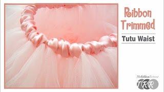 How to Make a Ribbon Trimmed Tutu Waist - TheRibbonRetreat.com thumbnail