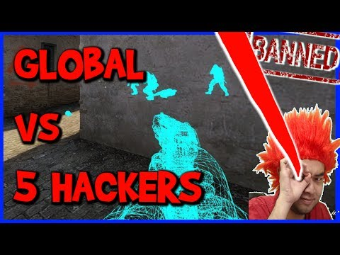 GLOBAL vs WALL HACKERS COMPETITIVO PESADO CS:GO