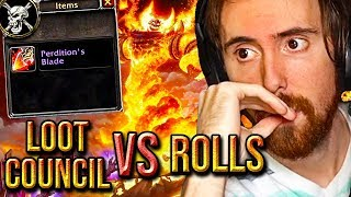 Asmongold Torn Between Respecting Rolls Or Loot Council RAGNAROS Drops - Classic WoW