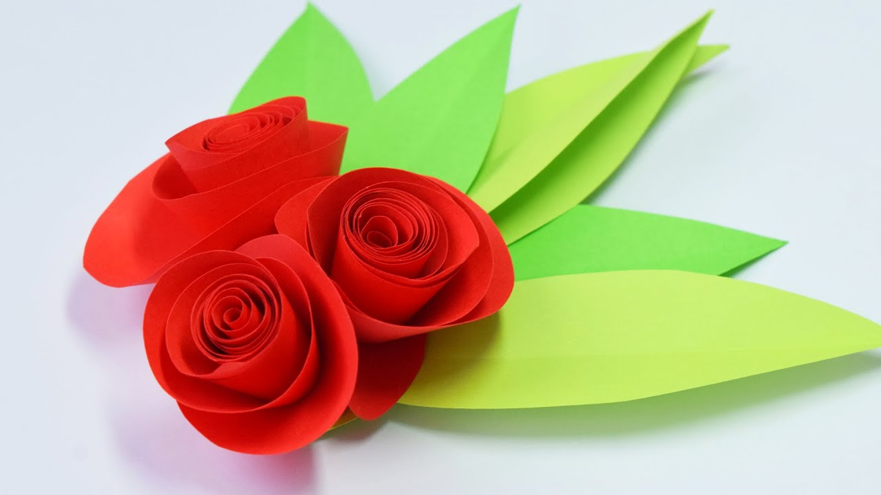Розы из бумаги своими руками поделки