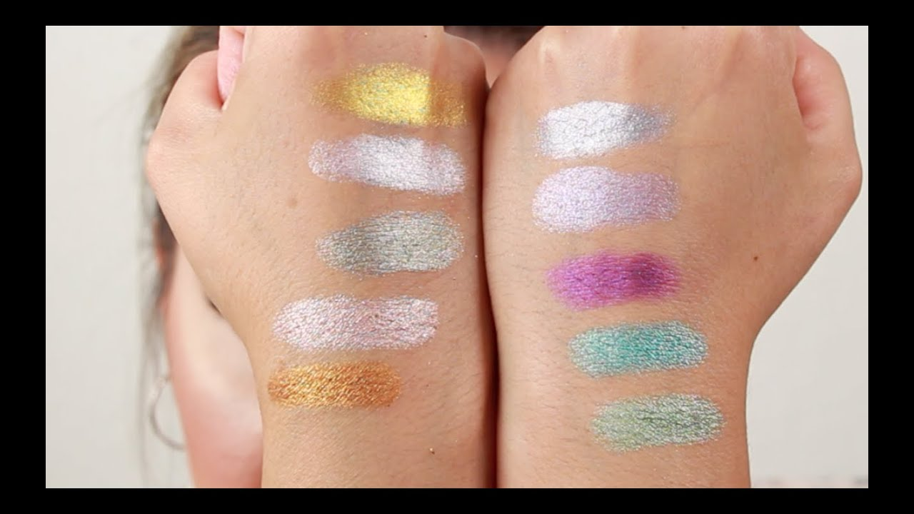 Assez 10 NEW Makeup geek Foiled Eyeshadows - Review | Swatches - YouTube UX14