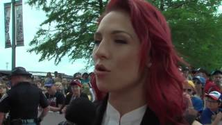 Dancing with the Stars Sharna Burgess on the red carpet at the Indy 500
