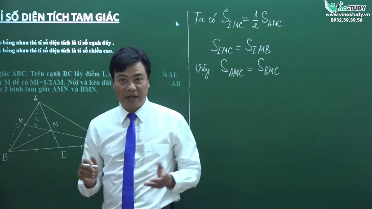 Tỉ số diện tích tam giác - Toán 5. Thầy Trịnh Ánh Dương