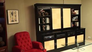 Sliding Door Motorized Tv Cabinet