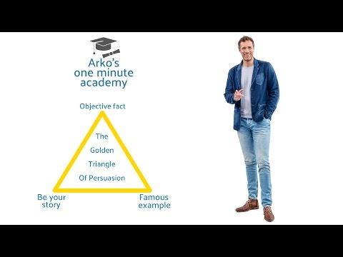 Better presentations: Golden Triangle of Persuasion.