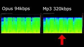 Opus vs Mp3 comparison