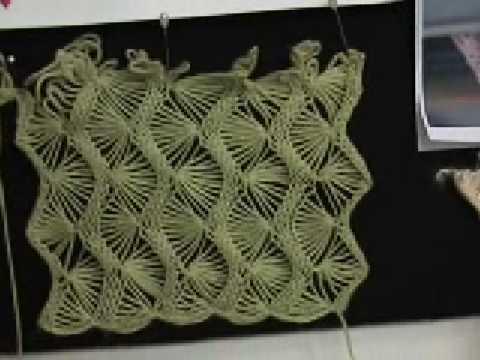 Machine Knit Fan Lace Part 1 Of 5 Youtube