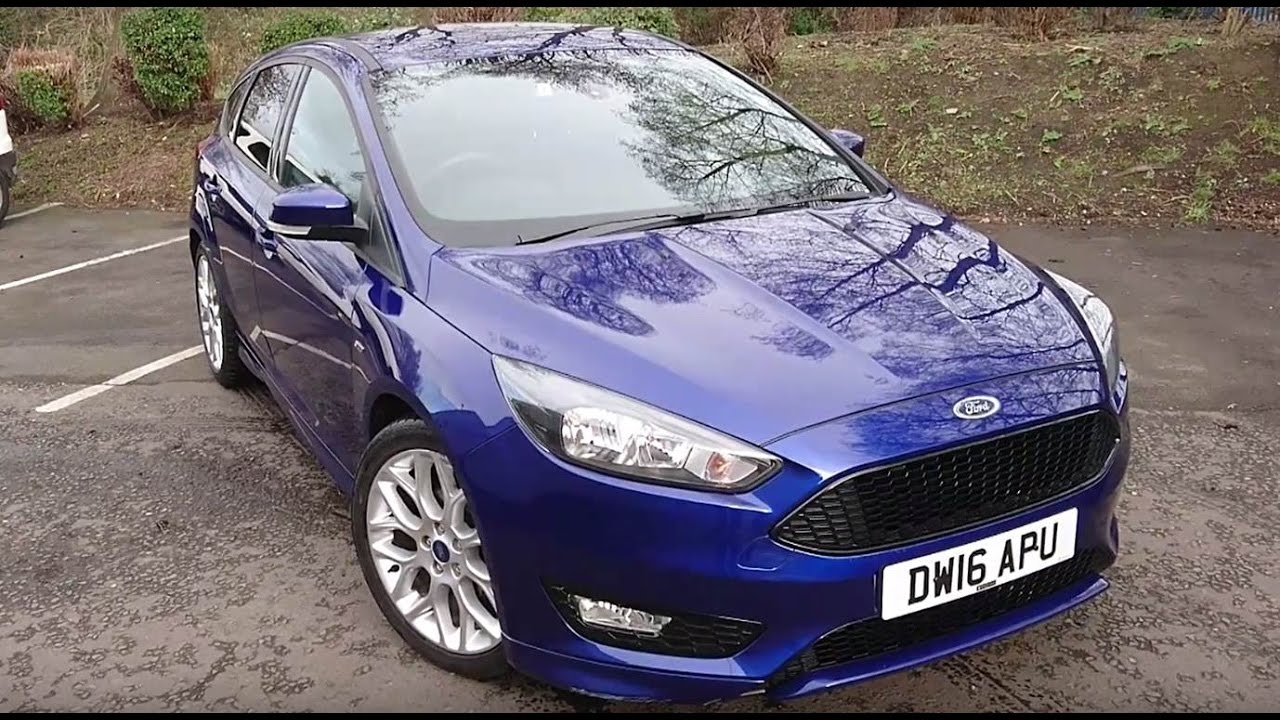 Used Ford Focus 1 0 Ecoboost 125 St Line 5dr Deep Impact Blue 2016